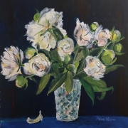 "O'Hare Williams Peonies Acrylic 20""x20"""